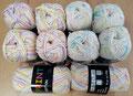 Hjerte Print Cotton - hervorragend geeignet für Babybekleidung, herrlich weich, 100% Baumwolle, Lauflänge 170m/50g, maschinenwaschbar bis 40°
