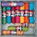 Twister Curly uni + color - klassisches Schul- und Topflappengarn zum Stricken, Häkeln und Basteln geeignet, für Wohnaccessoires, Kuscheltiere und Bekleigung, 100% Baumwolle, Lauflänge 85m/50g, maschinenwaschbar bis 60°