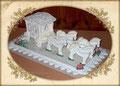 HOCHZEITSKUTSCHE---Gelatinezucker ca. 50cm lang/15 cm hoch zur Deko der Hochzeitstafel