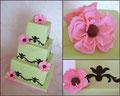 Hochzeitstorte/ Wedding cakes grün/pink