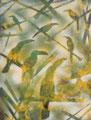 Les toucans 1990 Acrylique sur toile 65 x 50cm