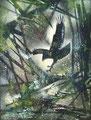 L'aigle 1989 Acrylique sur toile 65 x 50cm