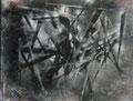 L'araignée 1991  Acrylique sur toile 65 x 54cm