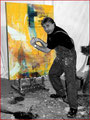 Emil en train de peindre