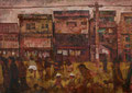 O風町商店街_2011 B3パネル oil on canvas