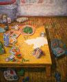 黄色い食卓_2006 F80 アルキド樹脂絵具 canvas