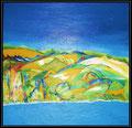 landscape mosaik 70x70cm Acryl/Leinwand