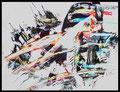 Komposition 2 - Pastell/Acryl auf Papier A5