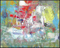 (ship) santa Maria- Acryl auf papier A3 gerahmt -painter  wilhelm Bachler wibac