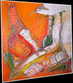 Vogel ueber der Stadt   Acryl auf Leinwand  Wibac 2012 70cm x 70cm