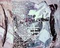 Komposition (Alchemie) Acryl - Collage auf Holz 40cm x50cm Wibac2012