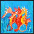 eye of seahorses acryl 20 x 20cm