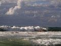 Still warm, but autumn sea.  09-2011