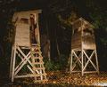 Goldene Hochstände, Installation, Hochstände & Goldfarbe, 3,90x1,50x1,50m, (BBK Braunschweig) 2014