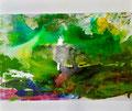 130 x 110 cm, Acryl/Tusche/Pigmente auf Leinwand