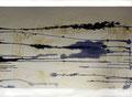 130 x 110 cm, Tusche auf Leinwand