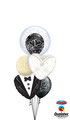Ballon Bouquet: Wedding Bubble, Bride & Groom ca. 1,80cm - € 35,90