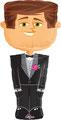 """Folienballon """"Airwalker Groom"""" 140cm  € 24,90"""