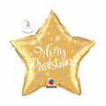 "Folienballon ""Merry Christmas Star - gold"" - 35cm  € 6,90"