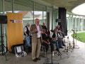 Egon Jüttner beim Jazzfrühschoppen der CDU Neuostheim/Neuhermsheim in Neuhermsheim.