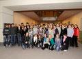 Prof. Jüttner mit Schülern der Ludwig-Frank-Gymnasiumns