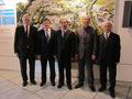 Egon Jüttner, Klaus Wolf, WU Hongbo, Jürgen Schmitt und QIN Hongliang bei Friatec (von links)