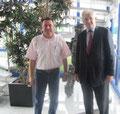 Egon Jüttner mit Prof. Dr. Uwe Görisch, Schrott-Wetzel Mannheim