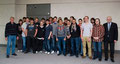 Schüler der Carl-Benz-Schule Mannheim mit ihren Lehrkräften Gerhard Blatt und Thorsten Kindermann und Prof. Dr. Egon Jüttner MdB Foto: Hans Joachim Rickel