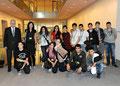 Egon Jüttner mit Schülerinnen und Schülern der Uhlandschule Mannheim im Deutschen Bundestag in Berlin