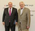 Egon Jüttner mit Bundesumweltminister Peter Altmaier beim Besuch der MVV AG in Mannheim