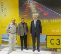 Klaus Peters, Bernd Kupfer und Egon Jüttner (von links) bei LUCEBIT in Mannheim