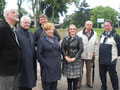 Egon Jüttner mit Teilnehmern der Ortsbegehung zum Stand der Sanierung und Hochwasserschäden der DJH Jugendherberge Mannheim