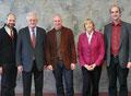 Besuch bei der Hochschule Mannheim (v.l.n.r.): Prof. Dr. Werner Grundmann, Prof. Jüttner, Prof. Dr. Dieter Leonhard, Marianne Seitz, Prof. Dr. Christian Maercker