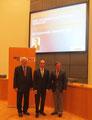 Egon Jüttner mit seinem Bundestagskollegen Eberhard Gienger und Bernd Kupfer in Mannheim bei einer Veranstaltung zum Ehrenamt