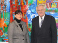 MdB Jüttner mit Dr. Vera Hemmerich, Leiterin der Abendakademie Mannheim