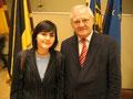 MdB Jüttner mit Lisa Hirschpek, Stipendiatin des Parlamentarischen Patenschaft-Programms (PPP)