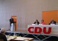 Egon Jüttner bei seiner Nominierungsrede bei der Bezirksvertreterversammlung der CDU Nordbaden am 13.4.2013