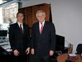 MdB Jüttner mit dem ersten Praktikanten im Berliner Büro, Arthur Vogt