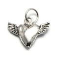 Herzchen mit Flügel Silber 13x18mm