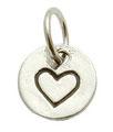 Rondelle mit Herzstamp Silber 8mm