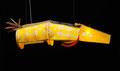 De grote gele vis (hangend) 170x52x42cm