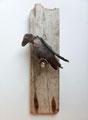 Vogel op stokje 52x15x15cm