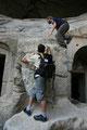klettern in den steinwohnungen