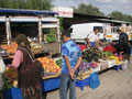 gemüseeinkauf auf dem markt