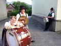 Unser Schlagzeugregister in vollem Einsatz ;-)