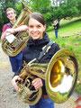 """Verena erstmals mit einem """"schönen"""" Instrument"""