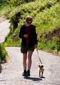 Spaziergang an der Leine