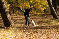 01.11.2011 - Mit Frauchen im Herbstwald