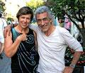 L'artiste joailler Lilsi Lopez et le sculpteur Philippe Berry-Galerie d'art Biot-Valbonne-Antibes
