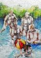 AURORE LANTERI-Cire d'abeille et huile sur toile- Galerie Gabel ART UP 2016